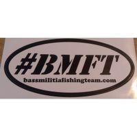 bass militia decal bmft white