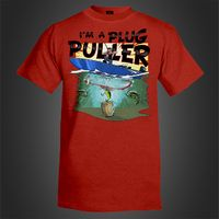 halo fishing im a plug puller t-shirt