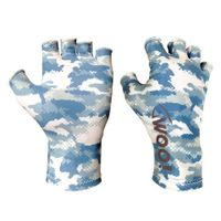 woo tungsten uv fishing gloves