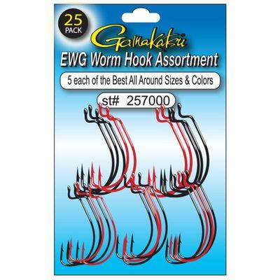 gamakatsu ewg worm hook assortment