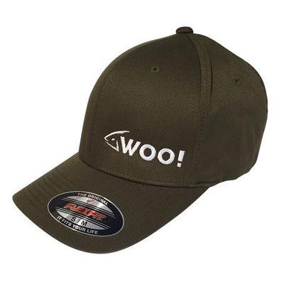 woo tungsten logo flexfit curved bill hat